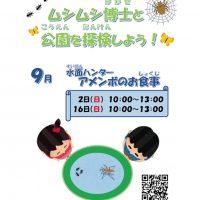 ムシムシ博士と公園を探検しよう! ~水面ハンターアメンボのお食事~(予約制)